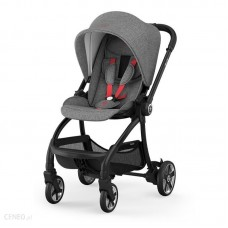 Kiddy Evostar Light 1 Stroller Grey Melange Hot Red
