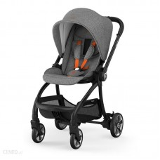 Kiddy Evostar Light 1 Stroller Grey Melange Safe Orange