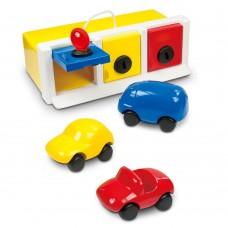 Ambi Toys Гараж с ключалки и три колички