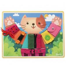 Andreu Toys Basic Skills Board Little Cat Dress