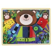 Andreu Toys Basic Skills Board Little Bear Dress