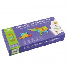 Andreu Toys Дървена цветна мозайка 21 части