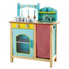Andreu Toys Голяма синя кухня с аксесоари Прованс