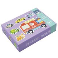 Andreu Toys 33 Pcs. Ladder Puzzles - Vehicles