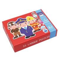 Andreu Toys 33 Pcs. Ladder Puzzles - People