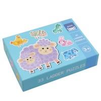 Andreu Toys 33 Pcs. Ladder Puzzles - Farm