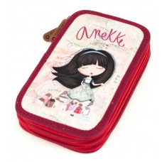 ANEKKE Pencil case with two zippers Liberty