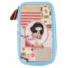 ANEKKE Pencil case with two zippers Patchwork