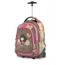 ANEKKE Ergonomic School Backpack With Wheels Sweet