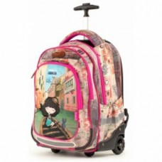 ANEKKE Ergonomic School Backpack With Wheels Bella Venezia