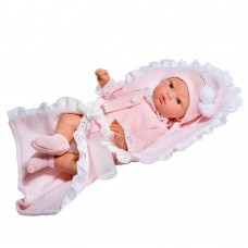 Asi Koke baby doll 36 cm with pink vest