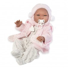 Asi Maria baby doll 43 cm with pink coat