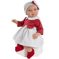 Asi Leo baby doll 46 cm with red dress