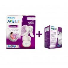 Avent Manual breast pump Comfort + 24 breast pads