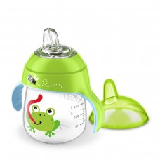 Philips Avent Non-spillable cup with soft silicone nozzle 260ml. Frog