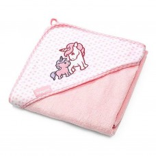 BabyOno Bamboo hooded towel, pink