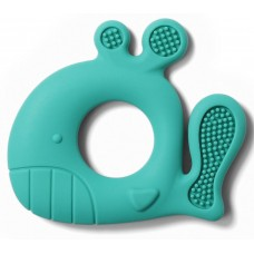 BabyOno Whale Pablo silicone teether mint