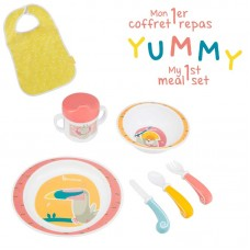 Badabulle Yummy Feeding Set, coral