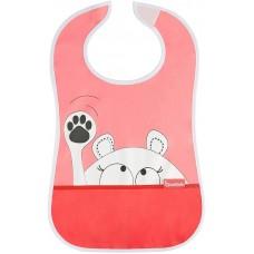 Badabulle Soft Bib Pink bear