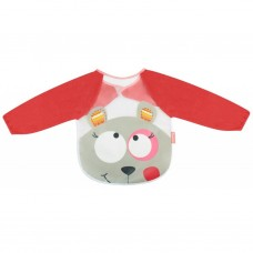 Badabulle Long Sleeved Bib Pink Bear