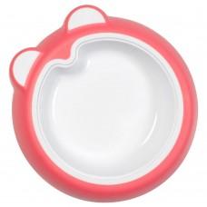 Badabulle Non-slip Baby Plate/Bowl pink