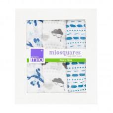 Bambino Mio Muslin squares print 3 pc Sail Away