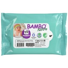 Bambo Nature Baby Wipes, 10 pcs.