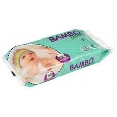 Bambo Nature Бебешки мокри кърпички без аромат, 50 броя