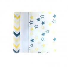 Barbabebe Baby Swaddle blanket 3 pcs yellow