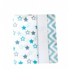 Barbabebe Baby Swaddle blanket 3 pcs light blue
