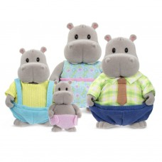 Battat Li'l Woodzeez Семейство Хипопотами