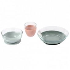 Beaba Комплект за хранене от стъкло 3 части, Еucalyptus
