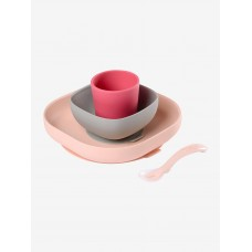 Beaba Silicone Meal Set pink