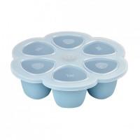 Beaba Силиконова форма за храна 6 х 150 мл, синя