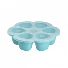 Beaba Силиконова форма за храна 6 х 90 мл, синя