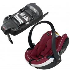 BeSafe Столче за кола iZi Go Modular X1 i-Size, Burgundy Melange и база iZi Modular IsoFix