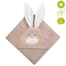 Bio Baby Hooded Baby Bath Towel 100% organic cotton, bunny
