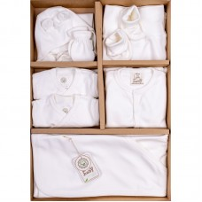 Bio Baby Newborn Baby Set 9 pieces 100% organic cotton, ecru