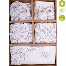 Bio Baby Newborn Baby Set 9 pieces 100% organic cotton, birdie