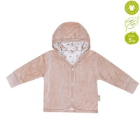 Bio Baby Double face baby jacket organic cotton, brown