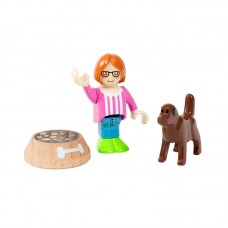 Brio Figure and Dog Toy