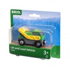 Brio Играчка вагон с въртящ се товарач