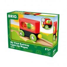 Brio My First Railway Light Up Wagon