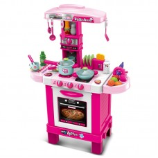 Buba Детски кухненски комплект розов