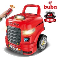 Buba Engine Workshop Motor Sport, red