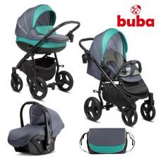 Buba Baby stroller 3 in 1 Bella Pewter-Green