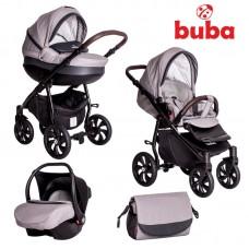 Buba Baby stroller 3 in 1 Estilo, grey and black