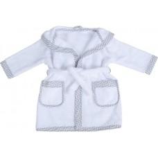 Bubaba Детски халат за баня бял