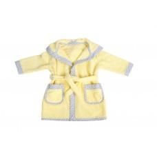 Bubaba Детски халат за баня жълт