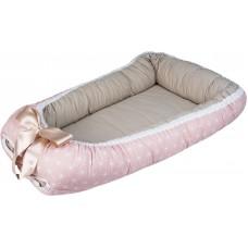 Bubaba Гнездо за бебе Мини, Розови снежинки